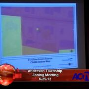 Anderson Township Zoning Meeting 6/25/12
