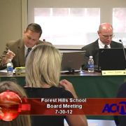 Forest Hills School Board Meeting 7/30/12
