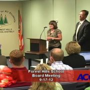 Forest Hills School Board Meeting 9/17/12