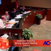 Anderson Township Zoning Appeals Meeting 5/9/13