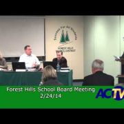 Forest Hills School Board Meeting 2/24/14