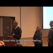 Forest Hills School Board Meeting 2/22/16