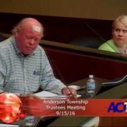 Anderson Township Trustees Meeting 9/15/16