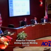 Anderson Township Zoning Appeals Meeting 11/1/12