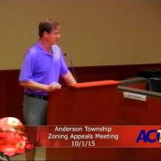 Anderson Township Zoning Appeals Meeting 10/1/15