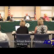 Forest Hills School Board Meeting 8/25/14
