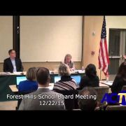 Forest Hills School Board Meeting 12/21/15