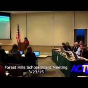 Forest Hills School Board Meeting 3-23-15