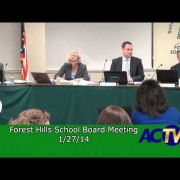 Forest Hills School Board Meeting 1/27/14