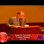 Anderson Township Trustees Meeting 1/17/13