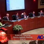 Anderson Township Zoning Appeals Meeting 3/6/14