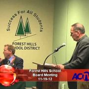 Forest Hills School Board Meeting 11/19/12