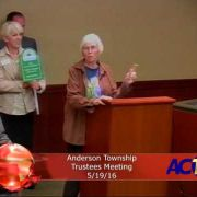 Anderson Township Trustee Meeting 5/19/16