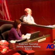 Anderson Township Zoning Appeals Meeting 9/4/14