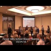 Forest Hills School Board Meeting 10/24/16