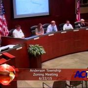 Anderson Township Zoning Meeting 6/22/15
