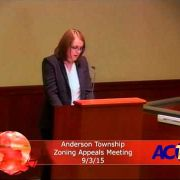 Anderson Township Zoning Appeals Meeting 9/3/15