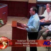 Anderson Township Zoning Appeals Meeting 9/1/16