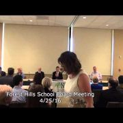 Forest Hills School Board Meeting 4/25/16