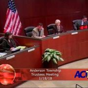 Anderson Township Trustees Meeting 1/18/18