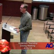 Anderson Township Zoning Meeting 2/26/18