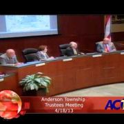 Anderson Township Trustees Meeting 41813