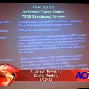 Anderson Township Zoning Meeting 2/23/15