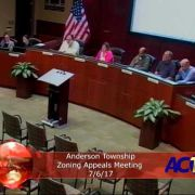 Anderson Township Zoning Appeals Meeting 7/6/17