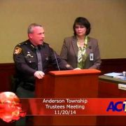 Anderson Township Trustee Meeting 11/20/14