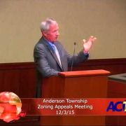 Anderson Township Zoning Appeals Meeting 12/3/15