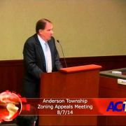 Anderson Township Zoning Appeals Meeting 8/7/14