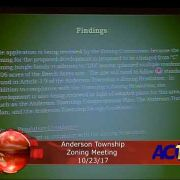 Anderson Township Zoning Meeting 10/23/17