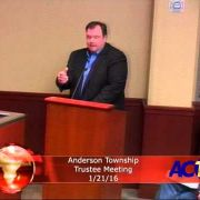 Anderson Township Trustees Meeting 1/21/16
