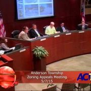 Anderson Township Zoning Appeals Meeting 5//7/15