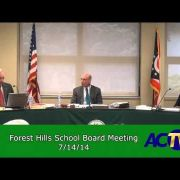 Forest Hills School Board Meeting 7/14/14