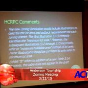 Anderson Township Zoning Meeting 3/23/15