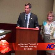 Anderson Township Trustees Meeting 81513