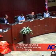 Anderson Township Zoning Appeals Meeting 9/5/13