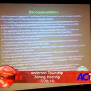 Anderson Township Zoning Meeting 7/28/14