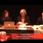 Forest Hills School Board Meeting9/24/18