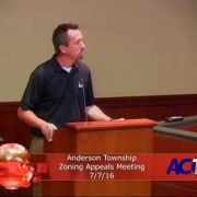 Anderson Township Zoning Appeals Meeting 7/7/16