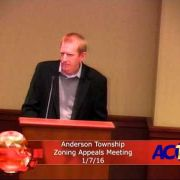 Anderson Township Zoning Appeals Meeting 1/7/16
