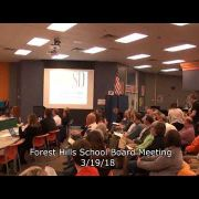 Forest Hills School Board Meeting 3/19/18