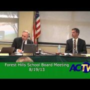 Forest Hills School Board Meeting 8/19/13