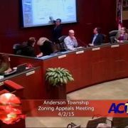 Anderson Township Zoning Appeals Meeting 4/2/15