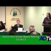 Forest Hills School Board Meeting 12/16/13