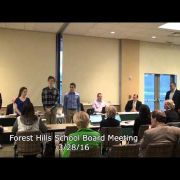 Forest Hills School Board Meeting 3/28/16