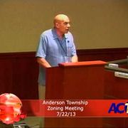 Anderson Township Zoning Meeting 7/22/13