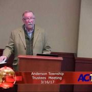 Anderson Township Trustees Meeting 3/16/17