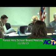 Forest Hills School Board Meeting for Nov. 2013